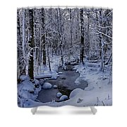 Snowy Creek Shower Curtain
