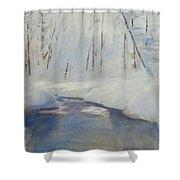 Snowy Creek Shower Curtain