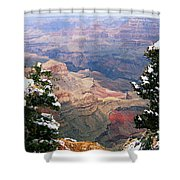 Snowy Dropoff - Grand Canyon Shower Curtain