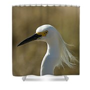 Snowy Egret Profile 1 Shower Curtain