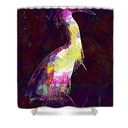 Snowy Egret Waterfowl Bird Large  Shower Curtain