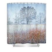 Snowy Field 2 - Winter At Retzer Nature Center  Shower Curtain