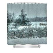 Snowy Field Shower Curtain