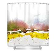 Snowy Field Shower Curtain