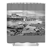 Snowy Fogged In Cove Shower Curtain