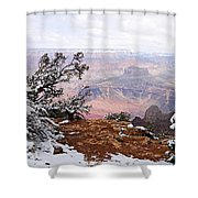 Snowy Frame - Grand Canyon Shower Curtain
