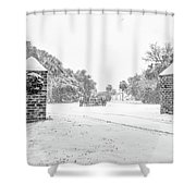 Snowy Gates Of Chisolm Island Shower Curtain