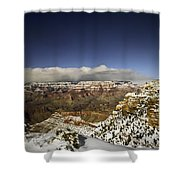 Snowy Grand Canyon Shower Curtain