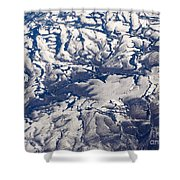 Snowy Landscape Aerial Shower Curtain