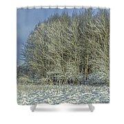 Snowy Landscape #f3 Shower Curtain