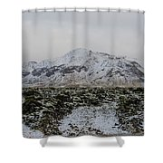 Snowy Lava Fields Iceland Shower Curtain
