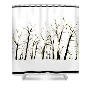 Snowy Line Up Shower Curtain