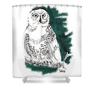 Snowy Owl II Shower Curtain
