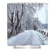 Snowy Path Shower Curtain