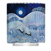 Snowy Peace Shower Curtain