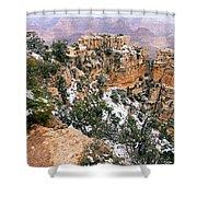 Snowy Pillar 2 - Grand Canyon Shower Curtain