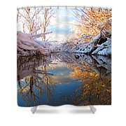 Snowy Refections Shower Curtain