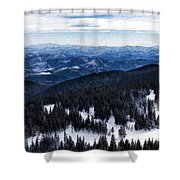 Snowy Ridges - Impressions Of Mountains Shower Curtain