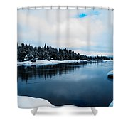 Snowy River Banks Shower Curtain