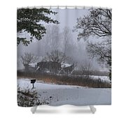 Snowy Road 2 Shower Curtain