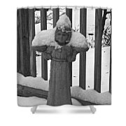 Snowy Statue Shower Curtain