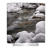 Snowy Stickney Brook Shower Curtain