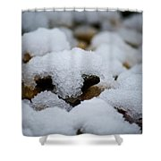 Snowy Stones Shower Curtain