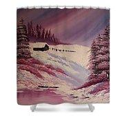 Snowy Summer Shower Curtain