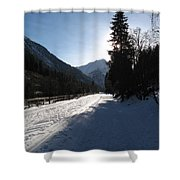 Snowy Track Shower Curtain