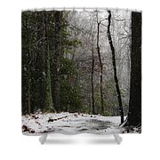 Snowy Trail Quantico National Cemetery Shower Curtain