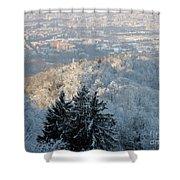 Snowy Turin Shower Curtain