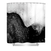 Snowy Underhang Shower Curtain