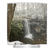Snowy Waterfall Shower Curtain