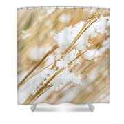 Snowy Weed Shower Curtain