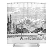 Snug Harbor Alaska Anchorage Shower Curtain