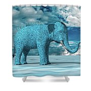 So Blue Without You Shower Curtain