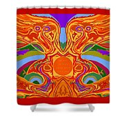 So Hot It Will Burn Your Face Off Art And Text Shower Curtain