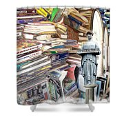 So Many Books To Read Shower Curtain