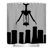 So Much Wine So Little Time Shower Curtain