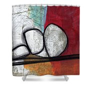 So We Begin- Abstract Art Shower Curtain