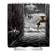 So What...the Water Tank Shower Curtain