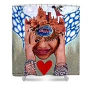 Soap Scene # 12 Sandcastle Shrine Shower Curtain