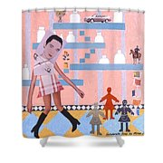 Soap Scene #16 Miracle Maids Shower Curtain