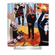 Soap Scene #18 Burn In Heaven At The Club Relish Shower Curtain