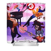 Soap Scene #21 Beggar Belief Shower Curtain
