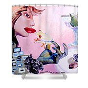 Soap Scene #6 Frogs Legs For Dinner Shower Curtain