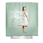 Soap Suds Pin Up Girl Shower Curtain