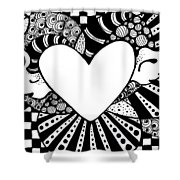 Soaring Heart  Shower Curtain