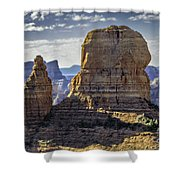 Soaring Red Rock Monoliths Shower Curtain