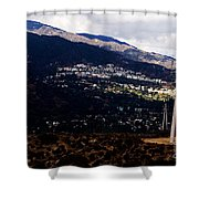 Socal Fire Road Shower Curtain